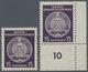 DDR - Dienstmarken A (Verwaltungspost B): 1956, 15 Pfg. Schwarzgrauviolett, Faserpapier, Beide Wasse - [6] Democratic Republic