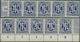 Bizone: 1945: 80 Pfg, Zwei Fünferstreifen, Einer Vom Bogenunterrand, Beide Mit Dekorativen Quetschfa - American/British Zone