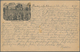 """Ansichtskarten: Vorläufer: 1879, SÄCHSISCHE SCHWEIZ """"Basteibrücke"""", Vorläuferkarte Mit R3 BASTEI 2.6 - Cartes Postales"""