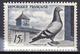 Timbre-poste Gommé Neuf** - En L'honneur De La Colombophilie Pigeon Bleu-Sion-Lamotte - N° 1091 (Yvert) - France 1957 - Ungebraucht