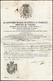 1832 - Lasciapassare Del Principe Di Cassaro Per Un Viaggio Per Berna, Via Di Genova, Datato Napoli ... - Autographs