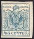 1852 - 45 Cent. Azzurro Ardesia, II Tipo (11), Nuovo, Gomma Originale, Perfetto. Grande Rarità Di Tu... - Lombardy-Venetia