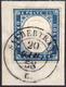 SALBERTRAND, Punti 13 - 20 Cent. Azzurro Grigio (15A), Perfetto, Usato Su Frammento Il 20/6/1858. Be... - Sardegna