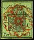 5 C. Schwarz Auf Lebhaftgelboliv, Speratifälschung, Rückseitig Punkthell, Sonst In Guter Erhaltung, Fotobefund Marchand  - 1843-1852 Federal & Cantonal Stamps