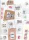 LOT 300 TIMBRES SUR DECOUPES D'ENVELOPPES -scans Joints -MONDE Dont France Allemagne Suisse Espagne Italie Amériques Etc - Vrac (max 999 Timbres)