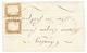 THONES : 1858 SARDAIGNE Paire 10c(pli) Obl. THONES Sur Lettre Pour CHAMBERY. RARE. TB. - Poststempel (Briefe)