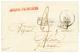 1829 GUYANE FRANCAISE En Rouge Sur Lettre Avec Texte Pour La FRANCE. Frappe Luxe. Exceptionnel. - Guinea Francese (1892-1944)