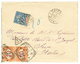 1904 15c Obl. CAYENNE Sur Lettre Taxée Pour L' ITALIE Avec 10c TAXE Obl. SUSA. Superbe. - Französisch-Guinea (1892-1944)