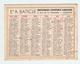 PETIT CALENDRIER 1948 - IMPRIMERIE LIBRAIRIE A. BATICLE CHAUNY AISNE (02) - Calendriers