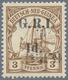Deutsch-Neuguinea - Britische Besetzung: 1914: 1 D. Auf 3 Pf. Dunkelockerbraun, DOPPELTER AUFDRUCK ' - Colony: German New Guinea