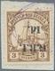 Deutsch-Neuguinea - Britische Besetzung: 1914: 1 D. Auf 3 Pf. Dunkelockerbraun, KOPFSTEHENDER AUFDRU - Colony: German New Guinea