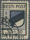 Dt. Besetzung II WK - Estland - Odenpäh (Otepää): 1941, 30 + 30 (K) Schwarz/violettultramarin, Type - Occupation 1938-45
