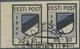 Dt. Besetzung II WK - Estland - Odenpäh (Otepää): 1941, 30 + 30 (K) Schwarz/violettultramarin, Waage - Occupation 1938-45