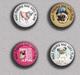 LOVE DOG Pug BADGE BUTTON PIN SET 5 (1inch/25mm Diameter) 35 DIFF - Tiere