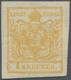 Österreich: 1850, 1 Kreuzer Gelbocker, Handpapier Type III, Allseits überrandig, Ungebraucht Mit Vol - Autriche
