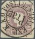 Österreich: 1859, (1,05 Kreuzer) Tiefdunkellila Zeitungsmarke, Type II, Farbfrisch, Allseits Breit- - Austria