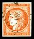 O N°5, 40c Orange Obl Pc '583', Frais, TB (signé Scheller/certificat)  Qualité: O  Cote: 500 Euros - 1849-1850 Ceres