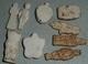 Lot De 6 Anciennes Fêves En Céramique, Biscuit, Porcelaine - Anciennes