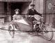 BISSEUIL VIGNERONS SIDE CARS HARLEY ?  ANNEES 1900 TIRAGE MODERNE D APRES PLAQUE ANCIENNE - France