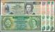 Belize: Set Of 8 Banknotes Containing 1 Dollar 1976 P. 33 (UNC), 1 Dollar 1986 P. 46 (UNC), 2x 1 Dol - Belice