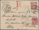 China: 1901. Registered Envelope Addressed To Italy Bearing Chinese Imperial Post SG 114, 20c Claret - China