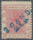 China - Shanghai: 1875, First Candareen Provisional Small Dragon Surcharges, 3 Ca. On 2 C. Rose Perf - China