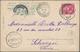 "China - Incoming Mail: 1906, Egypt, 5 M. Tid ""ALEXANDRIE 15 III 06"" To Ppc Via ""SUEZ"" To Shanghai, T - Cina"