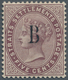 Malaiische Staaten - Straits Settlements - Post In Bangkok: 1882-85 5c Purple-brown, Wmk Crown CC, O - Straits Settlements