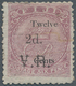 Fiji-Inseln: 1875, 2d. On 12d. On 6d. Rose, Apparently Unused Copy With Gum, Faint Traces Of Penstro - Fiji (...-1970)