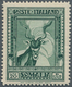 "Italienisch-Somaliland: 1937, Defintives ""Pictorials"", 20l. Green, Rare Perf. 14, Fresh Colour, Well - Somalie"