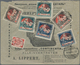 """Lettland: 1920, 2 X 5 K Red And 20 K Orange Definitives, 50 K Rose And 1 R Blue """"parliament"""" And Eac - Lettland"""