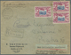 Lettland: 1940. Registered Letter To PRAGUE Franked 40c Dull Blue And Lilac-carmine (Michel 386, Sin - Lettland