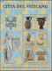 """Vatikan: 1983, Vatican Artworks, Souvenir Sheet, Silver Color Of The Tiara At Top Of """"papal Coat Of - Vatican"""