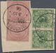 Deutsche Kolonien - Kamerun-Vorläufer: 1895, 2 Mark Mittelrosalila Und 5 Pfg. Lebhaftopalgrün, Jewei - Kolonie: Kamerun