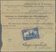 Deutsche Kolonien - Kamerun: 1913, 2 Mk. Rs. Mit Stempel DUALA 24.4.13 Auf Nachnahmepaketkarte Aus B - Kolonie: Kamerun