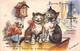 """¤¤  -   Illustrateur """" Germaine BOURET """"  -  Deux Petits Chats   -  Bonne Année     -   ¤¤ - Bouret, Germaine"""