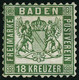 (*) N°20 18K Vert - B - Baden