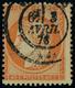 Oblitéré N° 38d, 40c Orange Type Siège, 4 Retouché, T.B. - Stamps