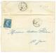 1860 FRANCE 20c(n°14) TB Margé Obl. Cachet Sarde BONNEVILLE Sur Lettre Avec Texte Pour ST JOIRE. Verso, Cachet Sarde S.J - Postmark Collection (Covers)