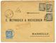 VAR : 1888 15c SAGE Obl. CALLIAN + TAXE Noir 5c+ 10c+ 30c Obl. MARSEILLE. TB. - Frankrijk