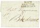 1805 POSTE MARITIME BORDEAUX Sur Lettre De PHILADELPHIA (USA) Pour BORDEAUX. Superbe Qualité. - Marcofilie (Brieven)