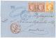 TREBIZONDE : 1875 CERES 10c(x2) + 40c SIEGE Obl. GC 5100 + TREBIZONDE TURQ. D' ASIE Sur Lettre Pour L' ANGLETERRE. Rare  - Non Classés