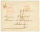 1845 SAINT PIERRE MARTINIQUE En Rouge (rare) + TAxe 15 + OUTRE-MER ROCHEFORT Pour BORDEAUX. TB. - Martinica (1886-1947)