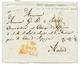 MAROC Via CONSUL De NORVEGE & Et De SUEDE Pour L' ESPAGNE : 1825 Taxe 16 + Cachet Espagnol AND.BAXA Rouge Sur Lettre Ave - Maroc (1891-1956)