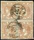 """Ed. 0 96 Bl.4 - Mat. Fechador Tp. II """"La Palma-Huelva"""" - Unused Stamps"""
