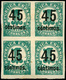 Ed. ** 742Shcca Bl. De 4 S/D. Variedad Habilitación Color Negro. Precioso. Raro. - 1931-50 Ongebruikt
