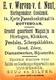 Early Advertisement Card,  Boy Writing, Werven V.d.Neut,Horlogemaker Rotterdam - Reclame