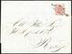 1850 - 15 Cent. Rosso, I Tiratura (3a), Perfetto, Su Lettera Scritta A Ferrara 6/6/1850 E Messa In P... - Lombardy-Venetia