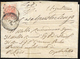 1852 - 5 Cent. Rosso, III Tipo, Carta A Mano (5), Perfetto, Su Sovracoperta Di Lettera Da Brescia Ad... - Lombardy-Venetia
