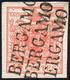 BERGAMO, SD Sd Punti 9 - 15 Cent. (6), Perfetto, Annullato Tre Volte Con Il Bollo Lineare. Bello E N... - Lombardo-Vénétie